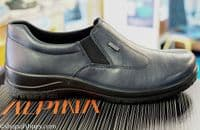 Alpina Rony gorgeously soft black Navy or Bordo luxury lined leather shoe. Available online with free postage or from our Whitchurch Hampshire shop between Basingstoke, Andover Winchester and Newbury Berkshire.